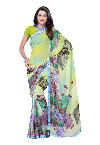 Fabdeal Indian Wear Faux Georgette MultiPrinted Saree-Onxsr8884Rdc (multicolor)