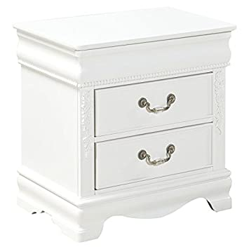 Standard Furniture Jessica Nightstand in Clean White Finish