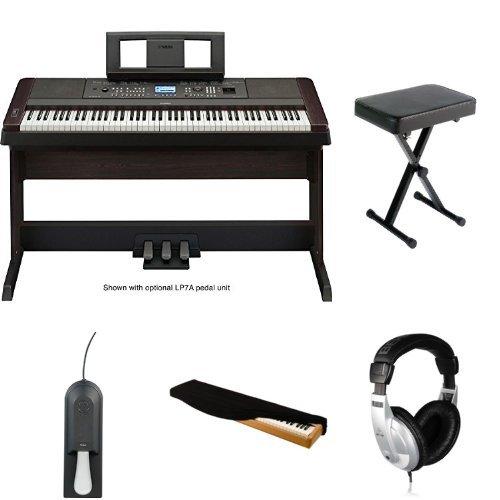 Yamaha Dgx650b Digital Piano With Bench Headphones Case
