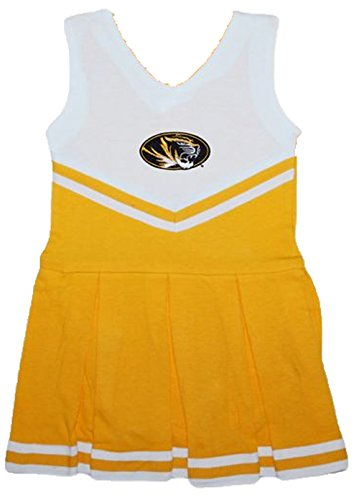 Missouri Tigers NCAA Newborn Baby Cheerleader Bodysuit Dress