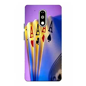 Moto G4 Play Cards Printed Multicolor Hard Back Cover By Case Cover