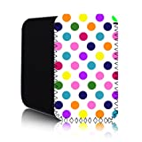 POLKA Dot [White - Multicolour] Nokia Lumia 820 (L) Shock Resistant Neoprene Mobile Phone Case, Cover, Pouch