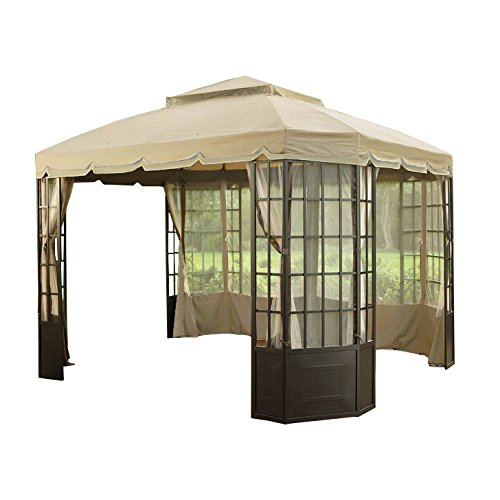 garden winds riplock replacement canopy for the bay window gazebo sold at sears gazebos. Black Bedroom Furniture Sets. Home Design Ideas