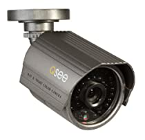 Q-See QM7008B High-Resolution 700TVL Weatherproof Camera with 100ft. Night Vision (Gray)
