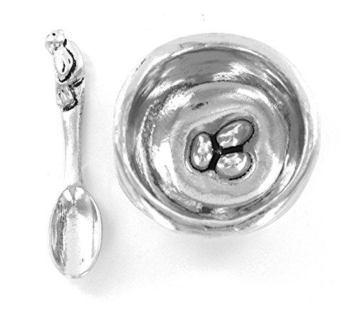 Basic Spirit Bird Nest Salt Cellar w/Spoon * Handcrafted Pewter Home Lead-Free SD-6 (Bird Salt Cellar compare prices)