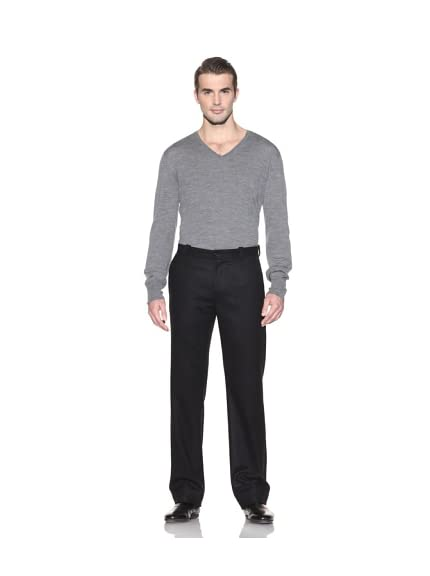 John Varvatos Collection Men's Flat Front Wool Pant