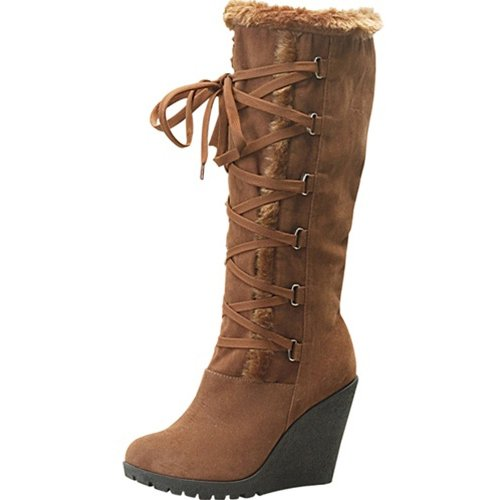 toi et moi fedel 3 wedge knee high boots size 7