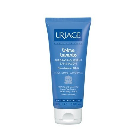 Uriage Crème Lavante Foaming and Cleansing Soap Free Cream 200ml