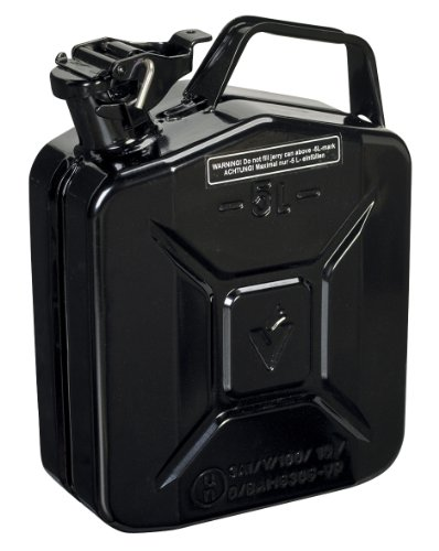 Sealey JC5MB Jerry Can, 5 Liter, Black