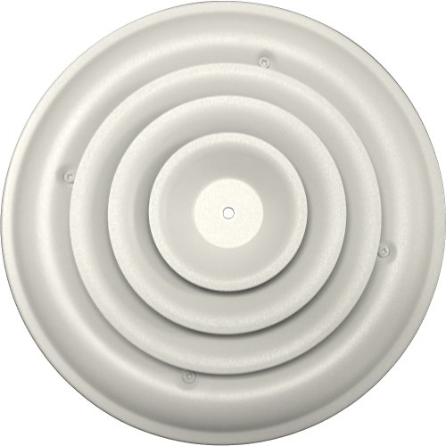 Speedi-Grille SG-RCR 08 8-Inch Round White Ceiling Air Vent Register with Fixed Cone Diffuser and Bowtie Damper (White Air Vent Register compare prices)