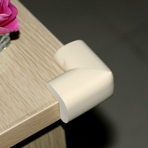 1 X Ostart 8 Beige Baby Furniture Corner Safety Bumper Security Table Desk Corner Edge Protector Guard Cushion Softener - 1