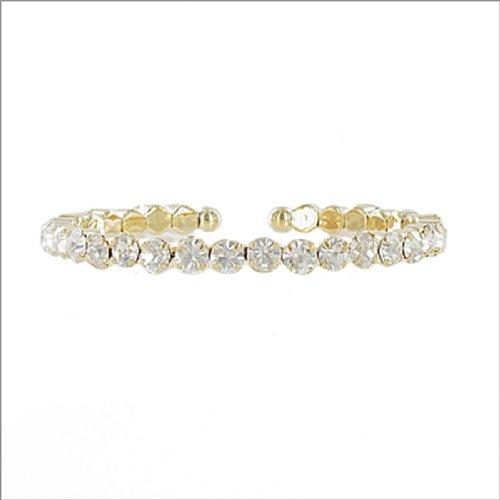 JOA One Line Crystal Stone Cuff Bracelet #041371