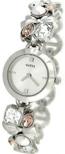 GUESS U11062L1 Crystallized Romance Watch, Silver