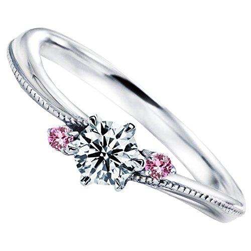 [ミワホウセキ] miwahouseki ピンク サファイア プロポーズ 婚約指輪 プラチナ 最高の輝き ダイヤモンド 0.2ct 鑑定書付 [M324PS] (13号)