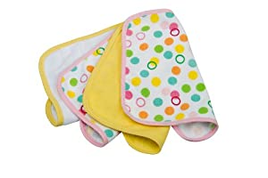 Rotho Babydesign - Lote de paños (4 unidades), varios diseños, color amarillo de Rotho Babydesign.