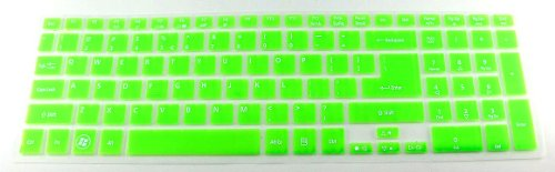 Folox Tm Colored Keyboard Protector Cover For Acer Timeline 5830T, Aspire Ethos 5951G 8951G, Aspire V3-571G V3-551G V3-771G V3-731G E1-522 E1-570G (Green)