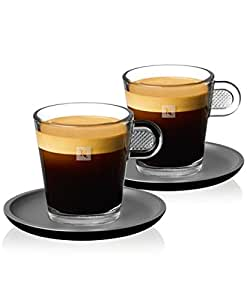 nespresso viva lot de 2 tasses expresso en verre pour espresso glass cup 60 ml. Black Bedroom Furniture Sets. Home Design Ideas