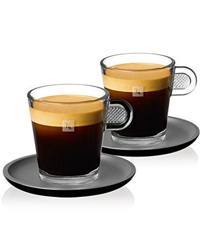 Nespresso Set Glass Collection Espresso Cups & Saucers,A & P Cahen Design,New (Nespresso Glass Espresso compare prices)