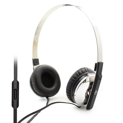 Cell Accessories For Less (Tm) Overhead Stereo Headset, Silver + Bundle (Stylus & Micro Cleaning Cloth) - By Thetargetbuys