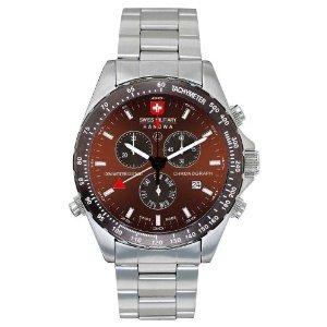 Swiss Military Hanowa Men's 06-5007-04-005 Navigator 316L Stainless Steel Brown Dial Watch
