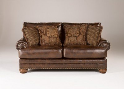 Traditional Antique DuraBlend Living Room Loveseat