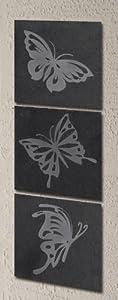 Greenkey Small Butterfly Slate Wall Art from Greenkey Garden and Home Ltd
