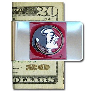 Florida State Seminoles Large Money Clip/Card Holder - NCAA College Athletics Fan Shop Sports Team Merchandise