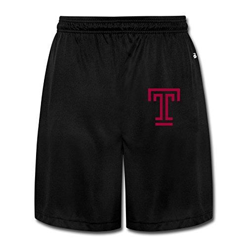 Kamifa Temple University T Logo Basic Performance Shorts Sweatpants Black SizeMedium