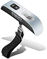 Etekcity Digital Hanging Postal Luggage Scale, Rubber Paint Technology, Temperature Sensor, 110lb/50kg, Silver/Black