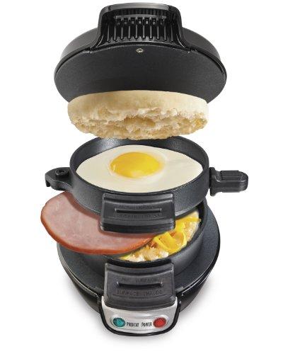 Hamilton Beach 25477 Breakfast Electric Sandwich Maker, Black (Breakfast Electric Sandwich Maker compare prices)