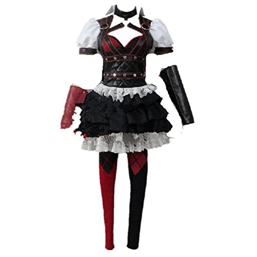 Mocoz Batman Dark Knight Arkham Asylum Harley Quinn Cosplay Costume