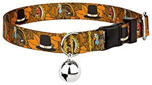 Country Brook Petz Thanksgiving Tradition Feather Weight Cat Collar