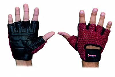 BOOM Pro Gym Gloves,Weight Lifting,Pure Cow Hide Leather Fitness Gloves,Body Building,Cycling from BOOM Pro