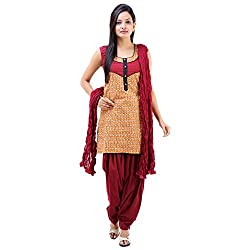 Vastra Vinod Women's Casual Wear Pretty Cotton Salwar Kurta Dupatta