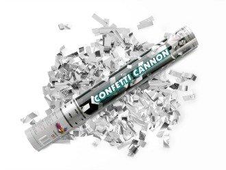 konfetti kanone silber metallic party kanone 60 cm standesamt hochzeit. Black Bedroom Furniture Sets. Home Design Ideas