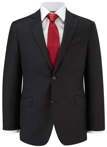 Austin Reed Contemporary Fit Charcoal Birdseye Suit LONG MENS 44