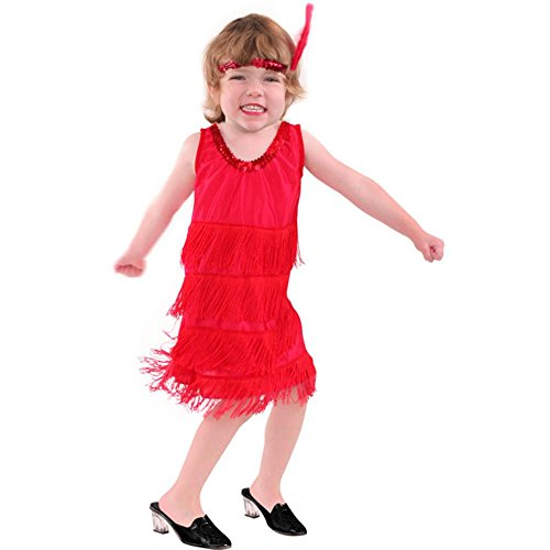 Red Flapper Dress Child's Costume (Size: Medium 8-10)