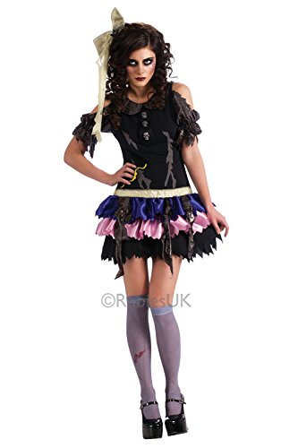 Rubies Womens Zombie Doll Fancy Dress Costume Ladies Halloween Party Outfit