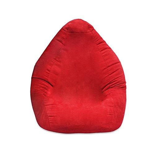 Lumaland Poltrona Sacco Luxury Poltrona Puff Pouf Cuscino misura XL Comfortline 120L Riempimento innovativo colore Rosso