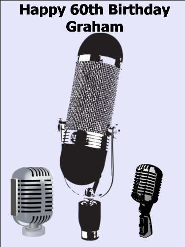 """10"""" X 7.5"""" Vintage Microphone Edible Image Cake Toppers Decorations Personalized On Edible Wafer Rice Paper - [Please Use The 'Contact Seller' Link To Send Us Your Personalised Message For Your Topper."""