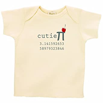 26 Degrees Forward Natural Organic Cotton Cutie Pi Toddler Tee, 2T