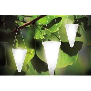 Hanging Solar Garden Light - Cornet Shaped