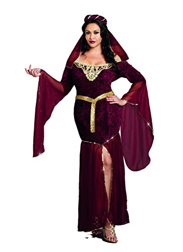 Dreamgirl Women's Plus-Size Royal Maiden Costume, Medieval Enchantress