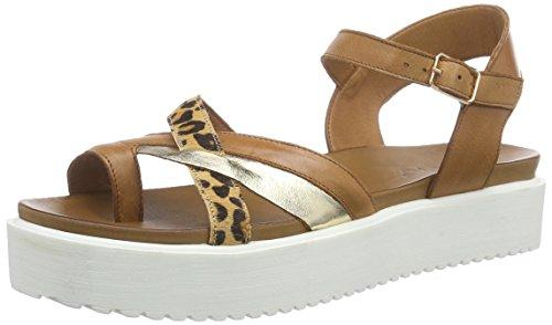 Inuovo6112 - Sandali Donna , marrone (Marron (Coconut/Gold/Leopard)), 40 EU