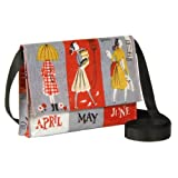 Crossbody Bags Calender Girls 8 3/4x6x1 1/3 Blue Q 1 Bag