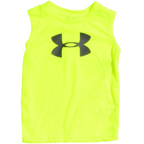 Under Armour Baby-Boys Infant Big Logo Tank, Yellow/Charcoal, 12 Months front-938011