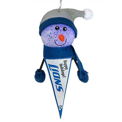 Detroit Lions - Light-Up Snowman Pennant Ornament