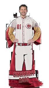MLB Cincinnati Reds Uniform Huddler Blanket With Sleeves by Northwest