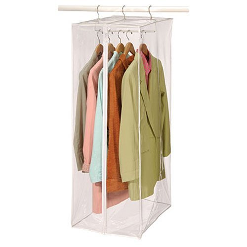 Richards Homewares - Clear Vinyl Storage Maxi Rack Suit Garment Cover (4-Pack) (Garment Rack Bag compare prices)