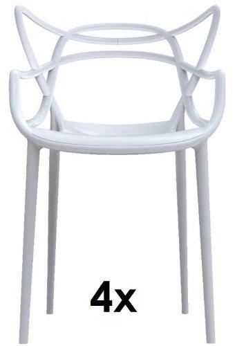 Kartell - Kartell masters antitrust amos 4 x blanco apilar sillas de philippe starck para el precio fijo 5866 03